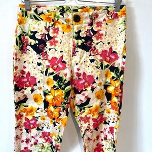 Lady Dutch | floral cropped chic pant